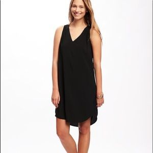 NWOT black tank dress with cutout in XSP